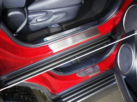 Lexus NX 200 2017-Накладки на пороги (лист шлифованный) 4шт